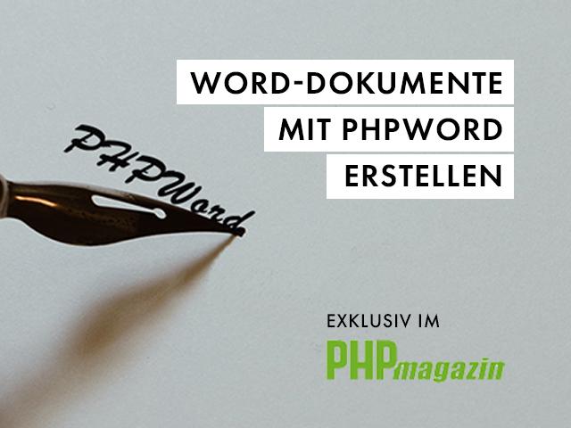 PHPWord im PHP Magazin